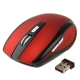 2.4 GHz 800~1600 DPI Wireless Optical Mouse with USB Mini Receiver, Plug and Play, Working Distance up to 10 Meters (Red)