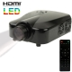 Personal Micro LED Projector with Remote Control, Built in Speaker, Support HDMI / VGA / TV / S-Video Input (Black)