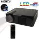 Multimedia LED Projector with Remote Control, Built in Speaker, with HDMI / USB / VGA / TV / S-Video Interface