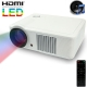 Multimedia LED Projector with Remote Control, Built in Speaker, Support Dual HDMI / VGA / S-Video Input (White)