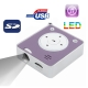 D06, Music Mini Projector with TF Card Slot (Purple)