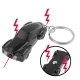 Electric Shock Mini Car Keychain with 2 LED Lights / Red Laser (Black)