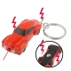 Electric Shock Mini Car Keychain with 2 LED Lights / Red Laser (Red)