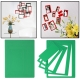 Rectangle Shaped DIY Adhesive Wall Sticker Decal Wallpaper House Interior Decor (Green)