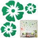Large + Middle + Small Size Flower Shaped DIY Adhesive Wall Sticker Decal Wallpaper House Interior Decor (Green)