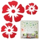 Large + Middle + Small Size Flower Shaped DIY Adhesive Wall Sticker Decal Wallpaper House Interior Decor (Red)