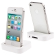 White Dock Cradle Charger Station with 3.5mm Line out for iPhone 4 & 4S