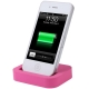 Dock Cradle Charger Station with 3.5mm Line Out for iPhone 4 & 4S (Magenta)