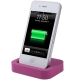 Dock Cradle Charger Station with 3.5mm Line Out for iPhone 4 & 4S (Purple)