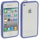 Bumper Frame TPU + PC Case with Keys for iPhone 4 & 4S (Dark Blue)