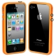 Bumper Frame TPU + PC with Keys for iPhone 4 & 4S (Orange)