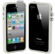 Bumper Frame TPU + PC Case with Keys for iPhone 4 & 4S (White)