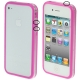 Bumper Frame TPU + PC Case with Keys for iPhone 4 & 4S (Purple)