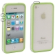 Bumper Frame TPU + PC Case with Keys for iPhone 4 & 4S (Green)