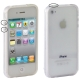 Bumper Frame TPU + PC Case with Keys for iPhone 4 & 4S(Transparent)