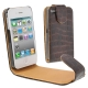 Chic Leather Case for iPhone 4 & 4S (Coffee)
