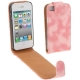 Shine Colors Fashion Chic Leather Case for iPhone 4 & 4S (Pink)