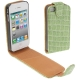Shine Colors Fashion Leather Case for iPhone 4 & 4S (Green)