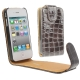 Chic Leather Case for iPhone 4 & 4S (Grey)
