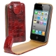 Chic Leather Case for iPhone 4 & 4S  (Maroon)