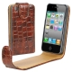 Chic Leather Case for iPhone 4 & 4S  (Brown)