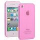 0.3mm Ultra-thin TPU Case for iPhone 4/4S (Pink), Transparent version / Matte Edition
