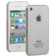 0.3mm Ultra-thin TPU Case for iPhone 4/4S (Grey), Transparent version / Matte Edition