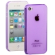 0.3mm Ultra-thin TPU Case for iPhone 4/4S (Purple), Transparent version / Matte Edition