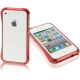 Aluminum Bumper Case for iPhone 4 & 4S (Red)