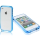 Aluminum Bumper Case for iPhone 4 & 4S (Baby Blue)