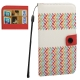 Ellipse Pattern Horizontal Flip Leather Case with Credit Card Slots for iPhone 4& 4S (Pink)