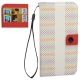 Color Circle Pattern Horizontal Flip Leather Case with Credit Card Slots for iPhone 4& 4S (Pink)