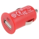 Mini USB Car Charger for iPhone 4 & 4S (Red)
