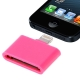 30 Pin Female to Lightning 8 Pin Male Adapter for iPhone 5, iPad mini, iPod touch 5 (Magenta)