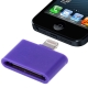 30 Pin Female to Lightning 8 Pin Male Adapter for iPhone 5, iPad mini, iPod touch 5 (Purple)