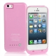 2500mAh Smooth Surface External Battery / Power Bank for iPhone 5 (Pink)