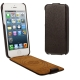 Litchi Texture Vertical Flip Genuine Split Leather Case for iPhone 5 (Dark Grey)
