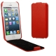 Litchi Texture Vertical Flip Genuine Split Leather Case for iPhone 5 (Red)