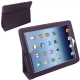 Leather Case with Holder for New iPad (iPad 3) / iPad 4, Eggplant color