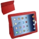 Leather Case with Holder for New iPad (iPad 3) / iPad 4, Red