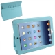 Leather Case with Holder for New iPad (iPad 3) / iPad 4, Baby Blue