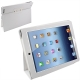 Leather Case with Holder for New iPad (iPad 3) / iPad 4, White
