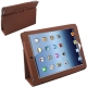 Leather Case with Holder for New iPad (iPad 3) / iPad 4, Brown
