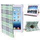 360 Degree Rotatable Scotland Gyrosigma Case with Holder for iPad 4 / New iPad (iPad 3) / iPad 2 (Light Green)