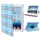 360 Degree Rotatable Scotland Gyrosigma Case with Holder for iPad 4 / New iPad (iPad 3) / iPad 2 (Baby Blue)