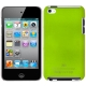 Plastic Case for iPod touch 4 (LightGreen) ,With Logo
