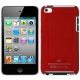 Plastic Case for iPod touch 4 (Red),With Logo