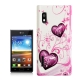 Heart Pattern Diamond Encrusted Plastic Case for LG Optimus L5 / E612