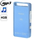 S.nano Mini Metal Shell Case MP3 Player, Built-in 4GB Memory (Blue)