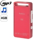 S.nano Mini Metal Shell Case MP3 Player, Built-in 4GB Memory (Red)